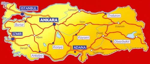 immagine di mappa stradale mappa stradale n.758 - Turchia