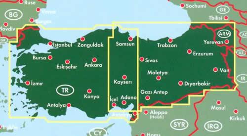 immagine di mappa stradale mappa stradale Turchia - edizione 2014
