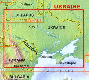 immagine di mappa stradale mappa stradale Ucraina / Ukraine