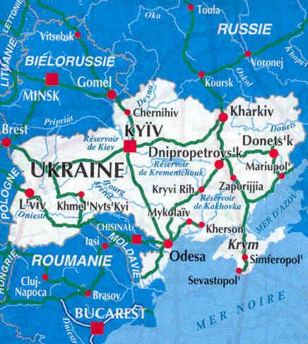 immagine di mappa stradale mappa stradale Ukraine / Ucraina