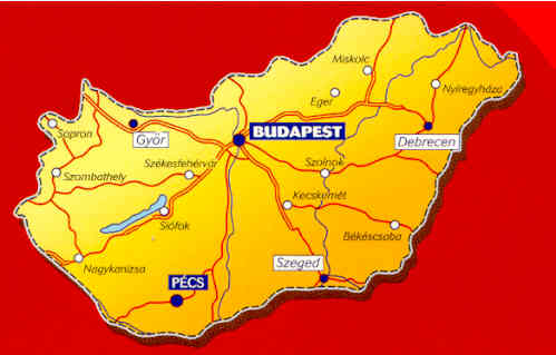 immagine di mappa stradale mappa stradale n.732 - Ungheria