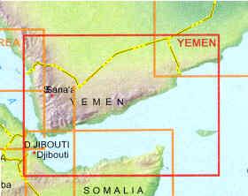 immagine di mappa stradale mappa stradale Yemen