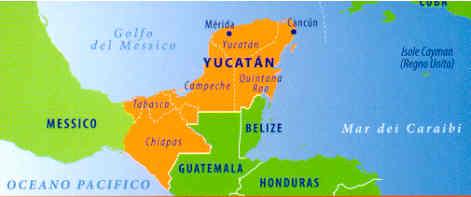 Cartina Yucatan E Chiapas.Guida Turistica Yucatan Campeche Quintana Roo Tabasco E Chiapas Con Cancun E Merida