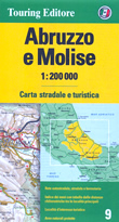 mappa Abruzzo e Molise stradale con distanze stradali, percorsi panoramici
