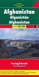 mappa stradale Afghanistan - Kabul, Qandahar/Kandahar, Baghlan, Mazar-i Sharif, Meymaneh, Herat, Farah, Lashkar Gah, Gardez - mappa stradale