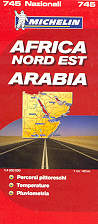 mappa stradale n.745 - Africa Nord Est e Arabia - con Egitto, Sudan, Etiopia, Somalia, Yemen, Oman, Arabia Saudita