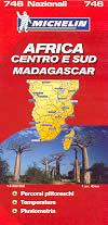 mappa stradale n.746 - Africa centro e sud, con Madagascar