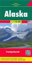 mappa Alaska con Anchorage, Fairbanks, College, Juneau, Kodiak, Ketchikan, Sitka, Palmer, Bethel, Barrow, Kenai 2017