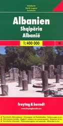 mappa stradale Albania