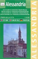 mappa Alessandria di città con Castelceriolo, Spinetta Marengo