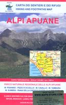 mappa 101/102 Alpi Apuane, M. Pisanino, Sumbra, Massa, Carrara, Marina di Pietrasanta, Tambura, P.zo d'Uccello, Pania d. Croce e altre cime 2018