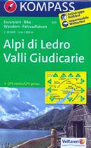mappa n.071 Alpi di Ledro, Valli Giudicarie con Monte Baldo, Malcesine, Riva del Garda, Limone sul Arco, Dro, Fiavè, Tione Trento, Pieve Bono, Condino, Storo, Capovalle, Lago d'Idro, Gargnano sentieri CAI, percorsi MTB, vie ferrate, parchi e riserve naturali plastificata, compatibile GPS 2017