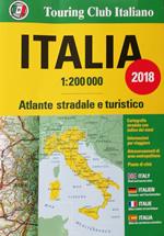 atlante Altante Stradale d'Italia con piante di città 2018