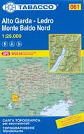 mappa n.061 Alto Garda, Ledro, Monte Baldo con Riva del Arco, M.Stivo, Ronzo, Mori, Brentonico, Malcesine, M. Vignola, Val Lagarina compatibile GPS 2015
