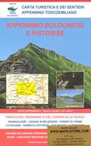 mappa n.21 Appennino Bolognese e Pistoiese con Parco del Corno Scale, Porretta Terme, Lizzano, S. Marcello, Sambuca