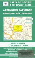 mappa n.14 Appennino Parmense Reggiano e Alta Lunigiana con passi del Cirone, Lagastrello, Cerreto, Monchio, Bagnone