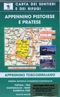 mappa n.24 Appennino Pistoiese e Pratese con Pistoia, Cantagallo, Montale, Vaiano, Sambuca, l'Acquerino, Prato