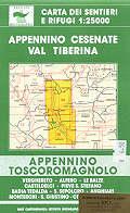 mappa 34/36 Appennino Toscoromagnolo, Monterchi, Sansepolcro, Anghiari, Verghereto