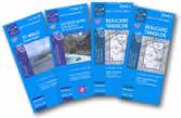 mappa Area n.5 Corsica del con Propriano, Sartene, Porto Vecchio, Bonifacio 4 mappe topografiche reticolo UTM per GPS