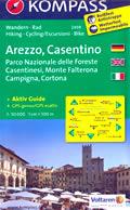 mappa n.2459 Arezzo, Casentino, Parco Nazionale Foreste Casentinesi, Monte Falterona, Cortona, Bibbiena, S. Savino, Loro Ciuffenna, Chiusi Verna, Anghiari, Castiglion Fiorentino, Sansepolcro plastificata, compatibile con GPS 2015