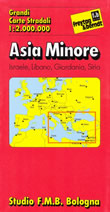 mappa stradale Asia Minore - con Israele, Libano, Giordania, Siria - edizione 2013