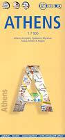 mappa di città Atene / Athens - mappa plastificata