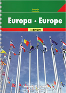 atlante stradale Europa rilegato
