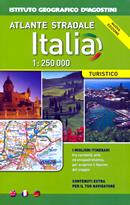 atlante stradale Atlante Stradale d'Italia - con mappe di città, mappe delle autostrade con descrizione dei servizi, aree di sosta ed itinerari turistici consigliati - pratico formato per auto e moto dim.18 x 27 cm - edizione 2015