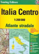 atlante Atlante Stradale Italia con Toscana, Umbria, Marche, Lazio, Abruzzo, Molise, Sardegna