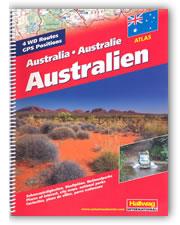 atlante stradale Australia - Atlante Stradale - con mappe per il fuoristrada e posizioni GPS