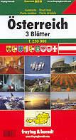 mappa stradale Austria in 3 carte - Osterreich, 3 Blatter