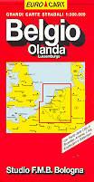 mappa stradale Belgio, Olanda Lussemburgo - edizione 2013