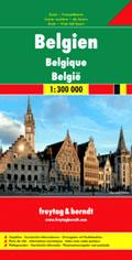 mappa Belgio stradale con mappe del città di Bruxelles e Lussemburgo