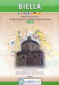 mappa Biella di città con il storico e dintorni, del Oropa