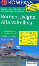 mappa n.96 Bormio, Livigno, Alta Valtellina, Poschiavo, Tovo di S. Agata, Sondalo, Temu, Valdidentro, Cima de Piazzi, Passo Stelvio, Munster, Lago Cancano, San Giacomo compatibile con GPS