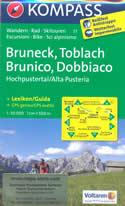 mappa n.57 Bruneck/Brunico, Toblach/Dobbiaco, Enneberg/Marebbe, Sillian, Sesto/Sexten, Prags/Braies, Abtei/Badia, Cortina d' Ampezzo, Tre Cime di Lavaredo, Auronzo Cadore plastificata, compatibile con sistemi GPS