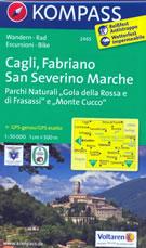 mappa n.2465 Cagli, Fabriano, San Severino Marche, Gubbio, Sassoferrato, Cingoli, Gualdo Tadino, Nocera Umbra, Camerino, Parco Naturale Gola Rossa e Frasassi, Monte Cucco compatibile con GPS