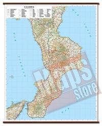 mappa Calabria murale cartografia