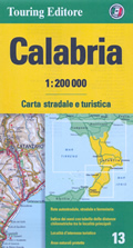 mappa Calabria stradale con distanze stradali, percorsi panoramici