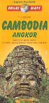 mappa stradale Cambogia / Cambodia e Angkor