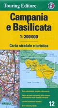 mappa Campania e Basilicata