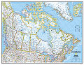 mappa Canada murale politica 86 x 58 cm