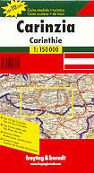 mappa stradale regionale Carinzia / Carinthie (Mappa regionale Austria)