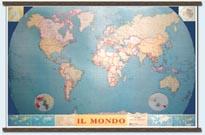 Il Mondo Politico, con bandiere (Planisfero)
