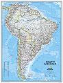 America del Sud - carta murale politica - 91 x 119 cm
