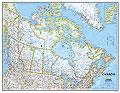 Canada - carta murale politica - 86 x 58 cm