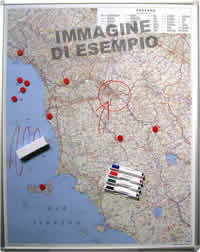 Veneto - Carta Magnetica su pannello in Metallo (scrivibile o per l'applicazione di calamite) + Kit Lavagna Magnetica