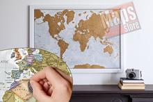 Planisfero da grattare! (Scratch Off World Map) - Gratta e Scopri il Mondo - carta murale personalizzabile con cartografia di alta qualità, dettagliata e aggiornata - il regalo ideale per appassionati di viaggi - 84 x 60 cm - edizione Dicembre 2015