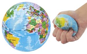 Globo Antistress / Anti-stress Ball - il regalo ideale per appassionati di viaggi e per imparare la geografia in modo divertente - edizione 2018