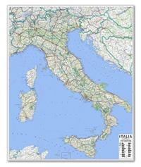 Carta Murale d'Italia - cartografia aggiornata e molto dettagliata con limiti di regione e rete stradale - carta plastificata - 100 x 130 cm - edizione 2018